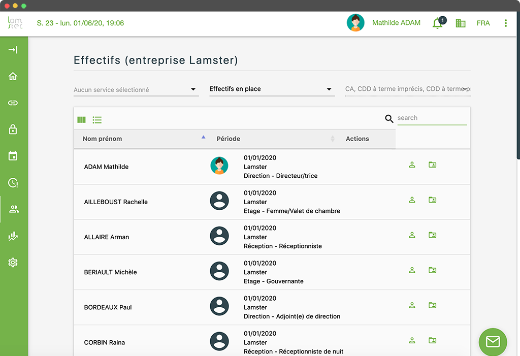Lamster logiciel RH - gestion salariés