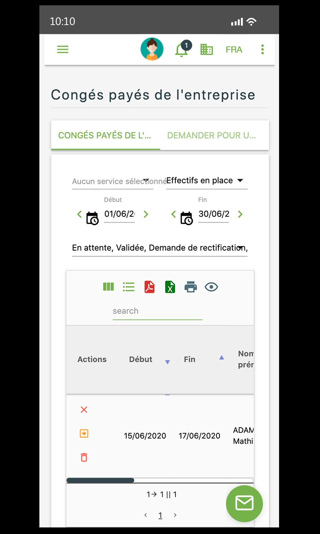 Lamster logiciel RH sur mobile - congés entreprise